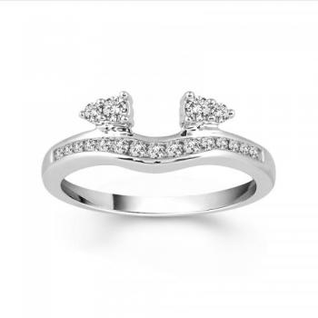 14KT GOLD 0.33CT DIAMOND SOLITAIRE ENHANCER FANCY STYLE  RING