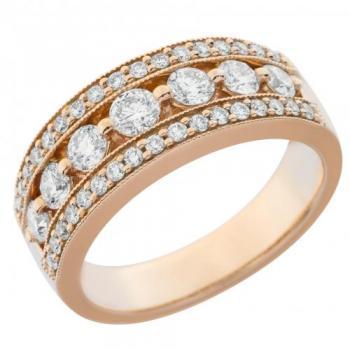 18KT GOLD 0.98CT DIAMOND FASHION BAND