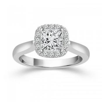 14KT GOLD 1 CT.T.W. DIAMOND FABULOUS FANCY BRIDAL RING