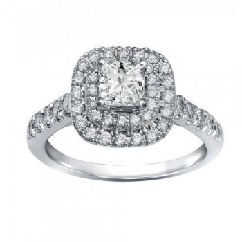 14KT GOLD 1.50 CT.T.W. DIAMOND FABULOUS FANCY BRIDAL RING