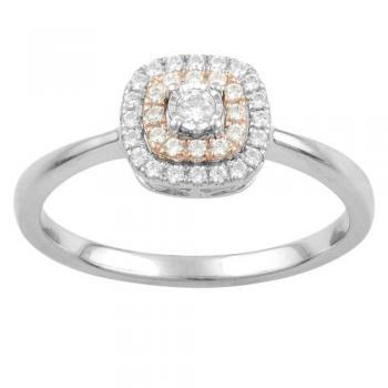 10KT GOLD 0.25CT DIAMOND HALO  RING