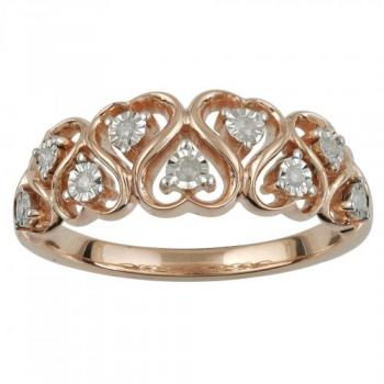 10KT GOLD 0.07 DIAMOND HEART RING