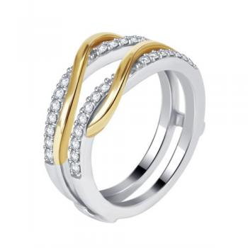 14KT GOLD 0.33CT DIAMOND  ENHANCER RING