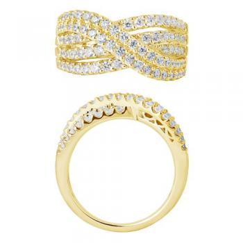 14KT GOLD 1.00CT DIAMOND DESIGNER RING