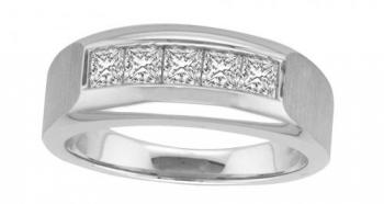 0.75 CTW G-H VS2-SI1 18KT OVANI COLLECTION GENTS RING