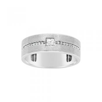0.25CTW G-H VS2-SI1 18KT OVANI COLLECTION GENTS RING
