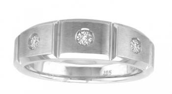 0.20 CTW G-H VS2-SI1 18KT OVANI COLLECTION GENTS RING