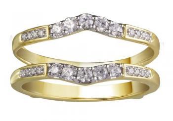 14KT GOLD 0.33CT DIAMOND ENHANCER RING