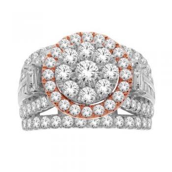 10KT GOLD 3.00CT DIAMOND HALO RING